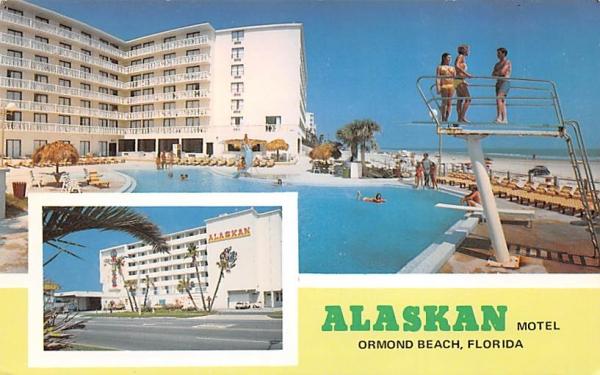 Alaskan Motel Ormond Beach, Florida Postcard