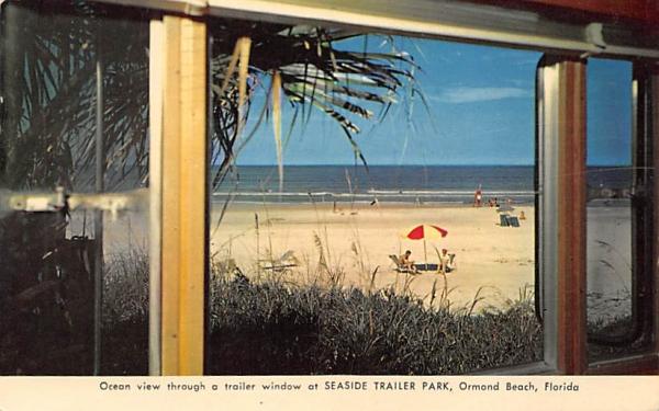 Seaside Trailer Park Ormond Beach, Florida Postcard