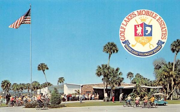Golf Lakes Mobile Estates Oneco, Florida Postcard