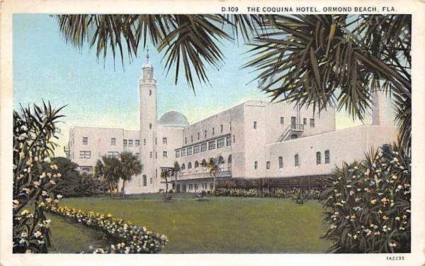 The Coquina Hotel Ormond Beach, Florida Postcard