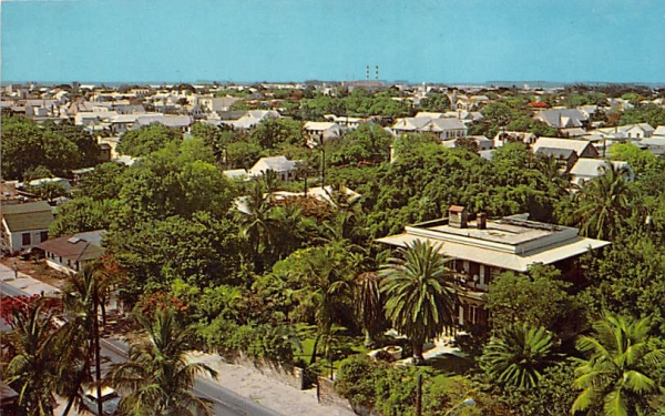 Ernest Hemingway House and Panorama  Old Key West, Florida Postcard