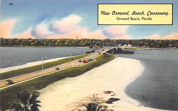 New Ormond Beach Causeway Florida Postcard