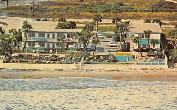 Aqua Terrace Motel Ormond Beach, Florida Postcard