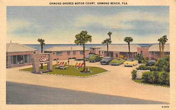 Ormond Shores Motor Court Ormond Beach, Florida Postcard