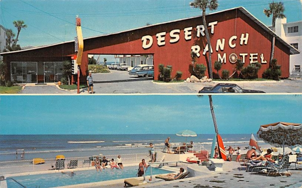 Desert Ranch Motel Ormond Beach, Florida Postcard
