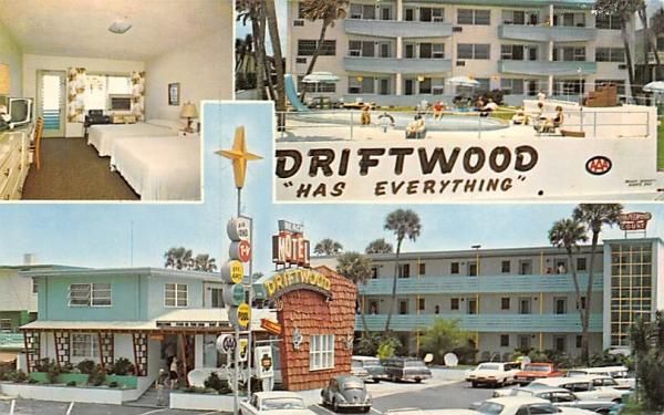 Driftwood Beach Motel Ormond Beach, Florida Postcard