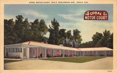 Coral Motor Court Ocala, Florida Postcard