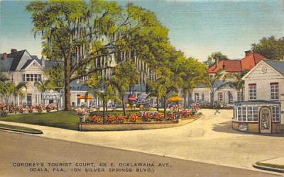 Cordrey's Tourist Court Ocala, Florida Postcard
