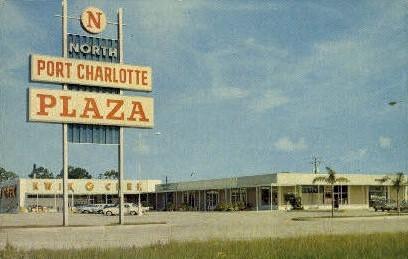 Shopping Plaza - Port Charlotte, Florida FL Postcard