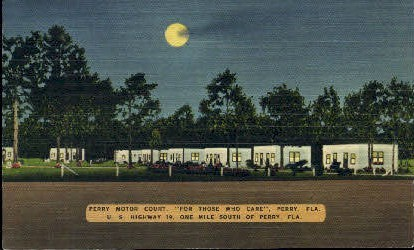 Perry Motor Court - Florida FL Postcard