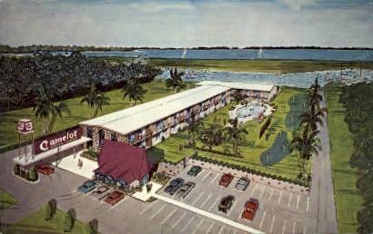 Camelot Motor Lodge - Palm Beach, Florida FL Postcard