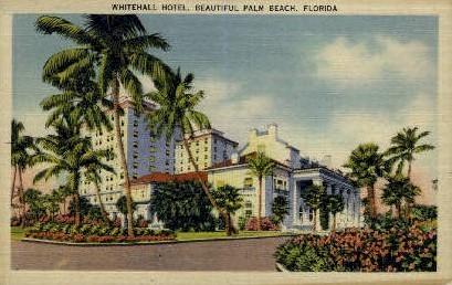 Whitehall Hotel - Palm Beach, Florida FL Postcard