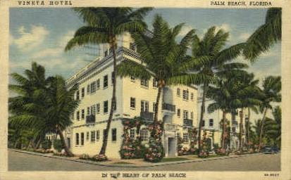 Vineta Hotel - Palm Beach, Florida FL Postcard