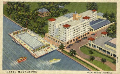Hotel Mayflower - Palm Beach, Florida FL Postcard