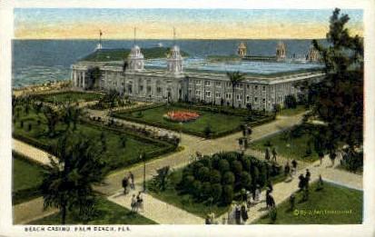 Beach Casino - Palm Beach, Florida FL Postcard