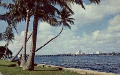Flagler Bridge - Palm Beach, Florida FL Postcard