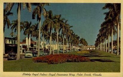 Statley Royal Palms - Palm Beach, Florida FL Postcard