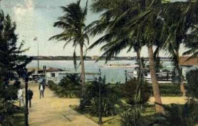 Dock - Palm Beach, Florida FL Postcard