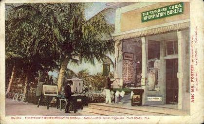 Standard Guide Information Bureau - Palm Beach, Florida FL Postcard