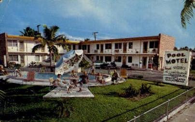 Pool Motel - Palm Beach, Florida FL Postcard
