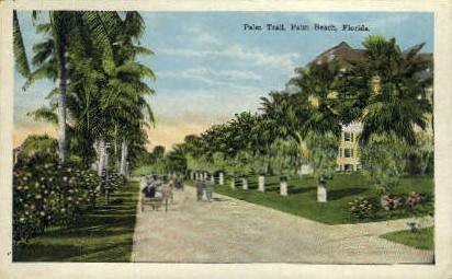 Palm Trail - Palm Beach, Florida FL Postcard