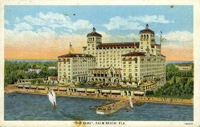 The Alba - Palm Beach, Florida FL Postcard