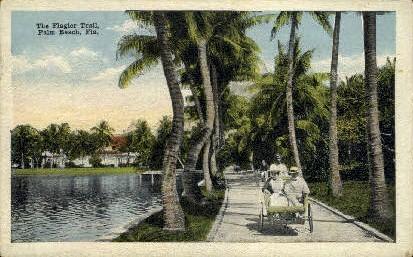 Flagler Trail - Palm Beach, Florida FL Postcard