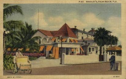 Bradley hall - Palm Beach, Florida FL Postcard