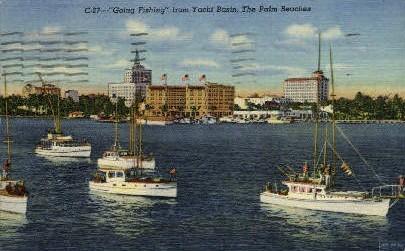Yacht Basin   - Palm Beach, Florida FL Postcard