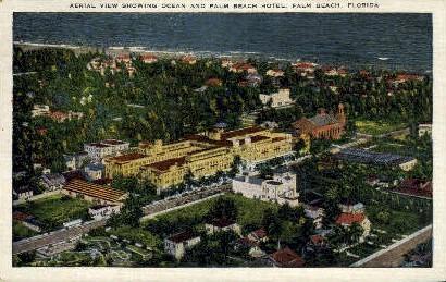 Palm Beach Hotel - Florida FL Postcard