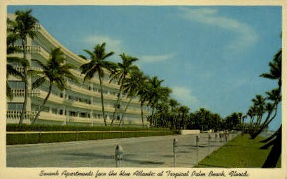 Swank Apartments - Palm Beach, Florida FL Postcard