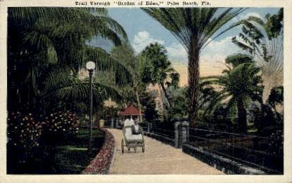 Garden of Eden - Palm Beach, Florida FL Postcard