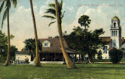 Golf Club House - Palm Beach, Florida FL Postcard