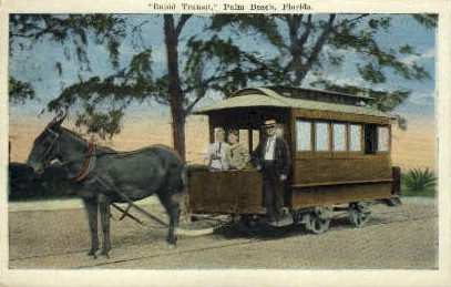 Rapid Transit - Palm Beach, Florida FL Postcard