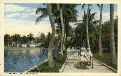 Lake Trail - Palm Beach, Florida FL Postcard