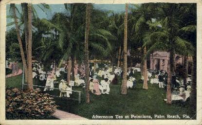 Tea at Poinciana - Palm Beach, Florida FL Postcard