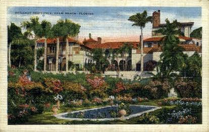 Donahue Residence - Palm Beach, Florida FL Postcard