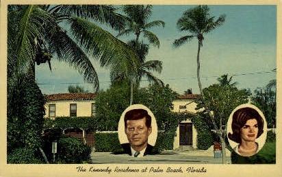 Kennedy Residence - Palm Beach, Florida FL Postcard