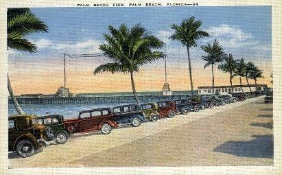 Palm Beach Pier - Florida FL Postcard