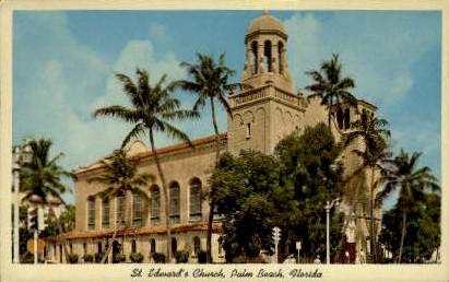 St. Edwards Catholic Church - Palm Beach, Florida FL Postcard