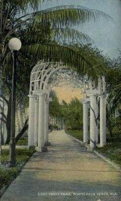 Lake Front Trail - Palm Beach, Florida FL Postcard