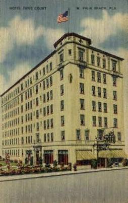 Hotel Dixie-Taylor - Palm Beach, Florida FL Postcard