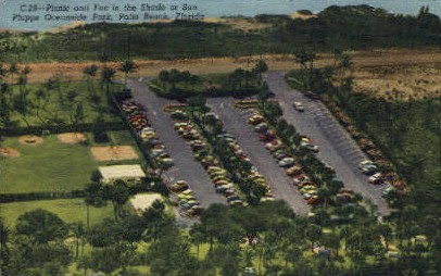 Phipps Oceanside Park - Palm Beach, Florida FL Postcard