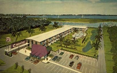 Cemelot Motor Lodge - Palm Beach, Florida FL Postcard