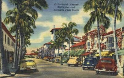 Worth Avenue - Palm Beach, Florida FL Postcard