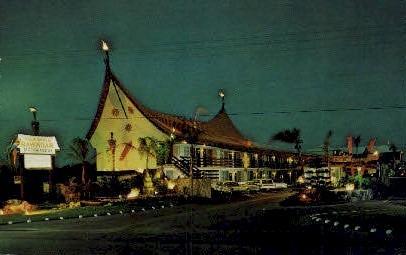 Palm Beach Hawaiian Motor Lodge - Florida FL Postcard