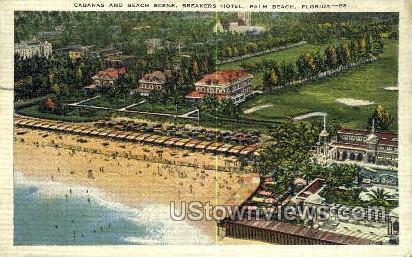 Cabanas - Palm Beach, Florida FL Postcard
