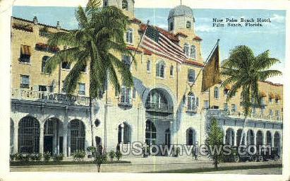 New Palm Beach Hotel - Florida FL Postcard
