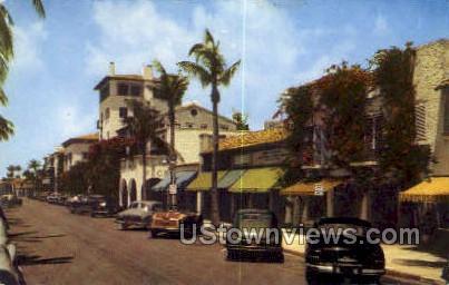Worth Ave - Palm Beach, Florida FL Postcard
