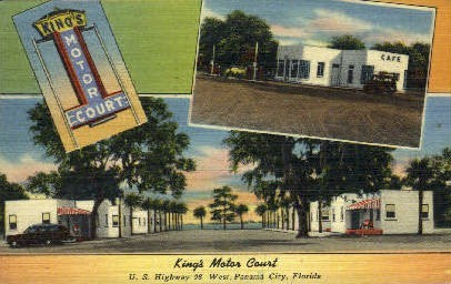 King's Motor Court - Panama City, Florida FL Postcard